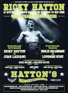 Ricky Hatton vs. Juan Lazcano Boxing competition