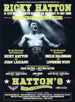 Ricky Hatton vs. Juan Lazcano - Image: Ricky Hatton vs. Juan Lazcano