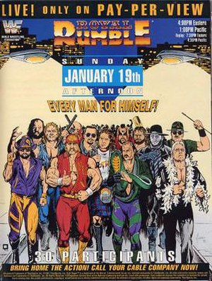 Royal Rumble (1992) - Promotional poster