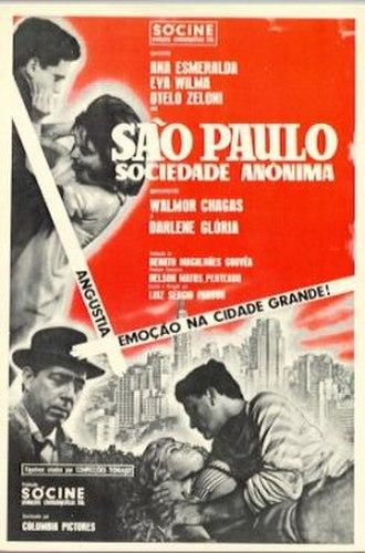 São Paulo, Sociedade Anônima - Theatrical release poster