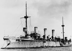 SMS Gefion - Gefion at anchor