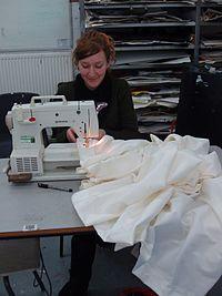 Using a modern sewing machine