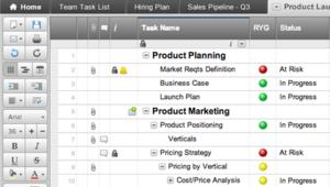 a screenshot of smartsheets user interface