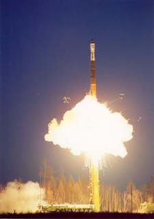 Start-1 launch vehicle lifting off from the Svobodny Cosmodrome