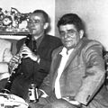Tale Ognenovski with his Rampone clarinet performing for his uncle Petar Hristov from North City, Illinois, USA in February 1956.jpg