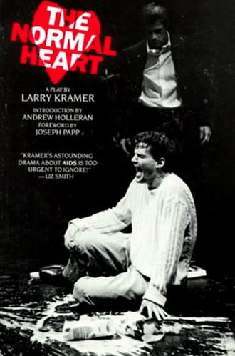 The Normal Heart - Cover of the paperback edition released by Plume in October 1985