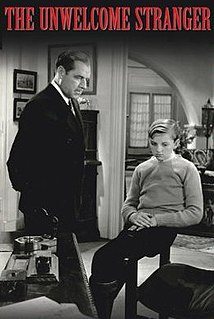 <i>The Unwelcome Stranger</i> 1935 US film directed by Phil Rosen