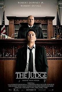 <i>The Judge</i> (2014 film) 2014 film by David Dobkin
