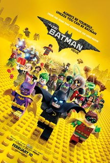 <i>The Lego Batman Movie</i> 2017 film directed by Chris McKay