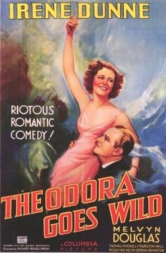 Irene Dunne - Dunne and Melvyn Douglas in Theodora Goes Wild promotional poster (1936)