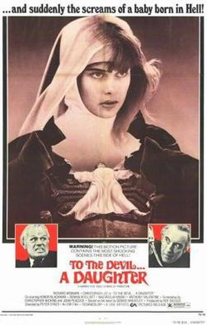 To the Devil a Daughter - Theatrical release poster