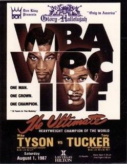 Mike Tyson vs. Tony Tucker Boxing competition