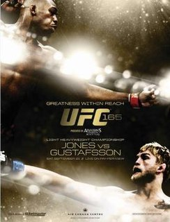 UFC 165 UFC mixed martial arts event in 2013