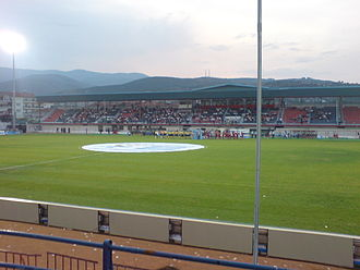Veria F.C. - West stand of Veria Stadium