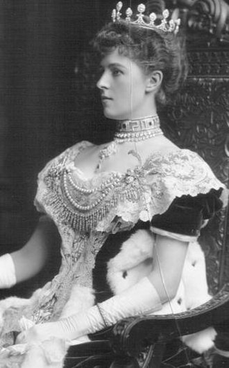 Violet Herbert, Countess of Powis - Lady Powis dressed for the coronation of King Edward VII in 1902.