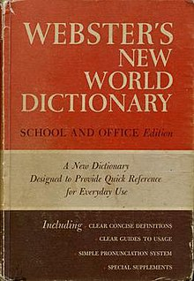 Webster's New World Dictionary - Wikipedia, the free encyclopedia