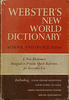<i>Websters New World Dictionary</i>