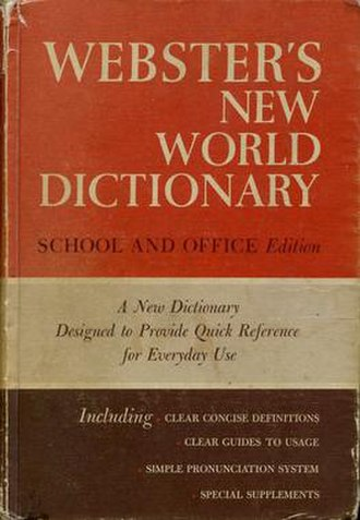 Webster's New World Dictionary - Compact school and office edition, 1967