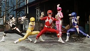Mighty Morphin Power Rangers - The five original Power Rangers, from left: Zack, Trini, Jason, Kimberly and Billy
