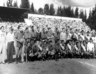 Irapuato F.C. - Irapuato's first game in the México Primera División Against Puebla FC in 1954.