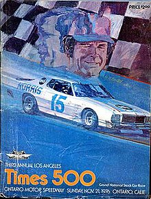 Official racing program of the 1976 Los Angeles Times 500