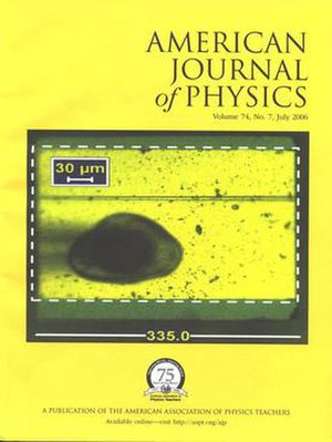 American Journal of Physics - Image: AJP July 2006