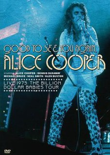 <i>Good to See You Again, Alice Cooper</i> 1974 feature film starring Alice Cooper