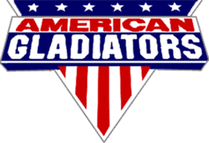 American Gladiators - The first American Gladiators logo, from 1989–1993.