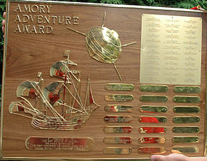 Amory Adventure Award - The Amoury Adventure Award Plaque
