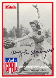 Amy Applegren All-American Girls Professional Baseball League player