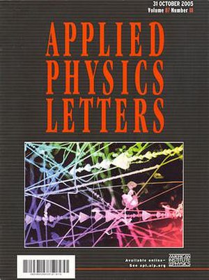 Applied Physics Letters - Image: Applied Physics Letters cover image