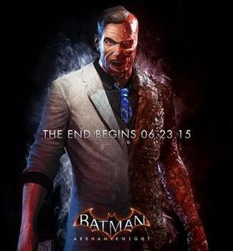 Two-Face - Two-Face in a promotional image for Batman: Arkham Knight.