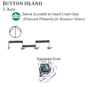 Button Island (Massachusetts) - Map of Button Island, provided by the National Park Service.