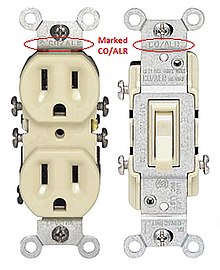special co/alr rated wall outlet and wall switch