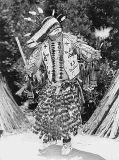 Native American dancer and costume maker