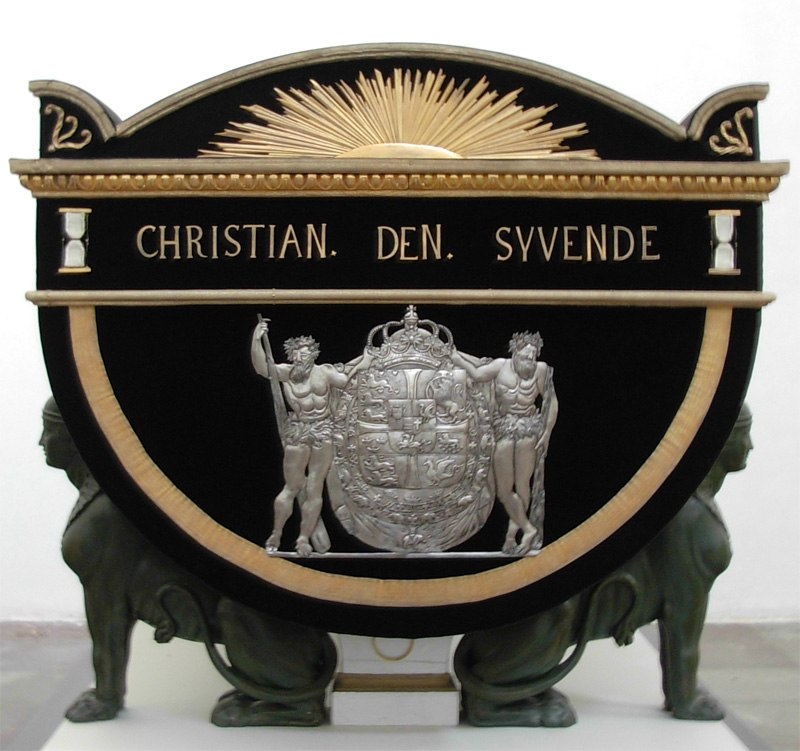 ChristianVII coffin Roskilde Cathedral