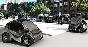 CityCar - Sketch of the CityCar, the ultra-small vehicle developed by MIT Media Lab.