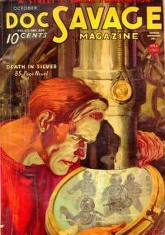 Death in Silver - Cover of the original October 1934 issue of Doc Savage