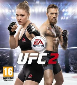 EA Sports UFC 2 - Cover art featuring Ronda Rousey and Conor McGregor