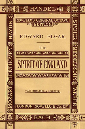 The Spirit of England - Cover of first edition of published score