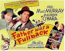 Father was a Fullback - 1950 Poster.png