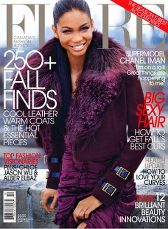 Flare (magazine) - October 2010 cover