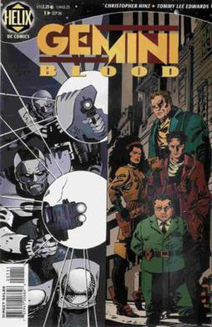 Gemini Blood - Cover to Gemini Blood. Art by Tommy Lee Edwards