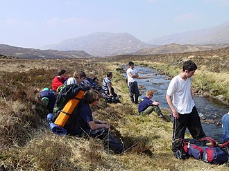 Gordonstoun - Gordonstoun pupils take a rest whilst on expedition in the Cairngorms.
