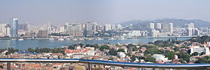Gulangyu - Image: Guland island in foreground looking Xiamen, Fujian, China