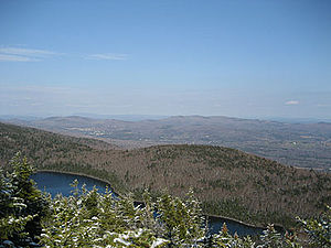 Haystack Mountain (Vermont) - Haystack Pond as seen from Haystack Mountain