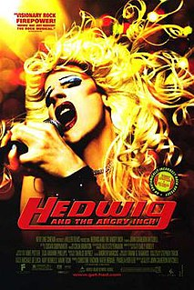 <i>Hedwig and the Angry Inch</i> (film) 2001 American musical film by John Cameron Mitchell