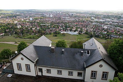 View of Heilbronn from Wartberg viewing tower. Heilbronn view from Wartberg.jpg