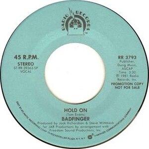 Hold On (Badfinger song) - Image: Hold On Badfinger