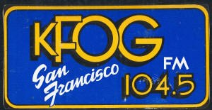 KFOG - A variation of KFOG's original logo